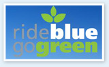 Ride Blue. Go Green. Logo