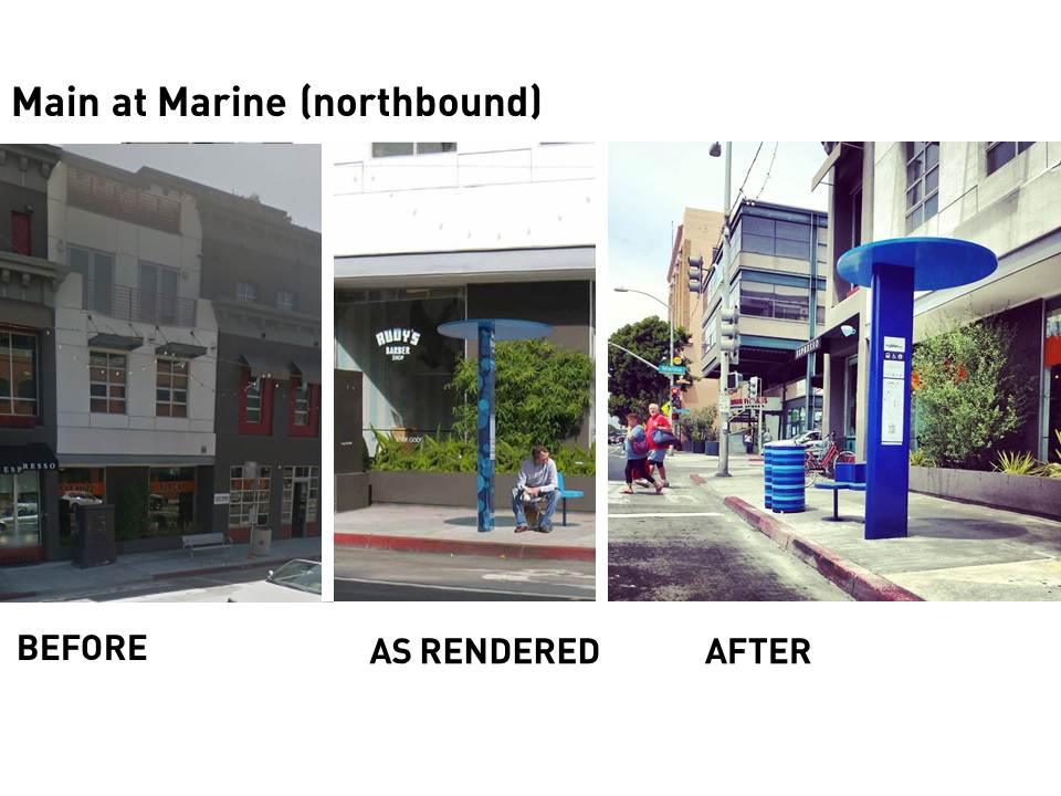 Before & After: Main at Marine (northbound)