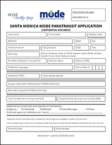 MODE Application